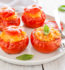 Tomatoes stuffed with Arborio Conti rice