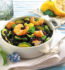 """Conti"" black brown rice with shrimp and courgettes"